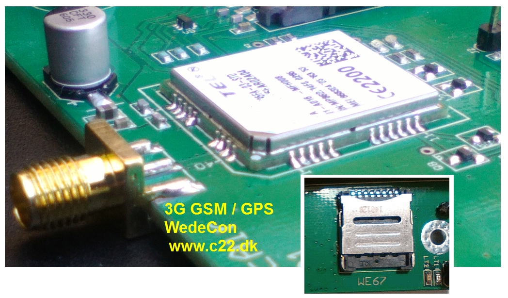3G GSM module Development elektronikudvikling